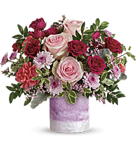 Teleflora's Washed In Pink Bouquet - Deluxe