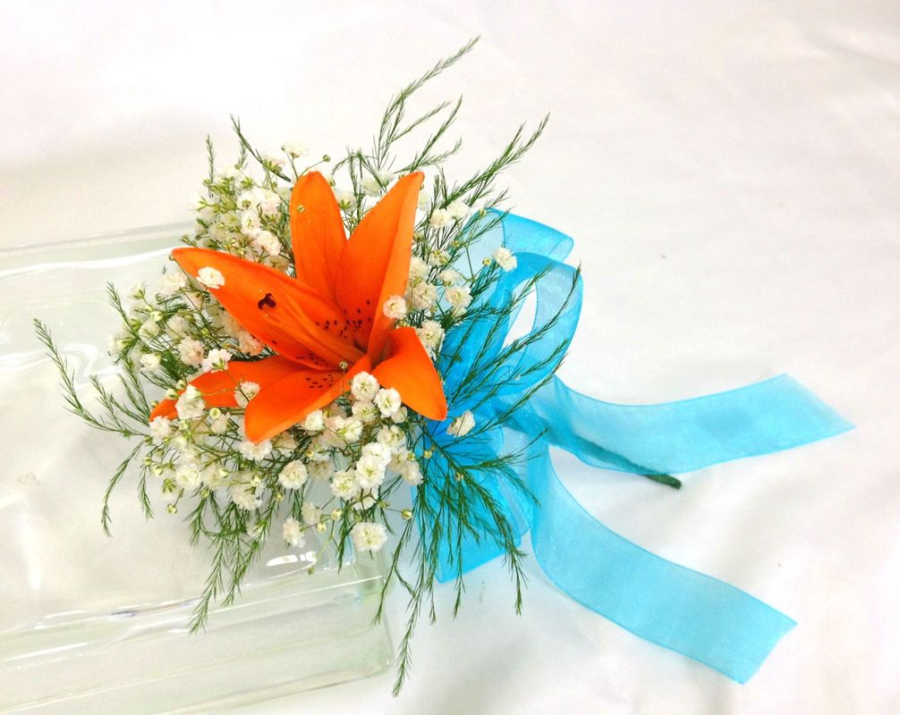 Orange Lily Throw Bouquet